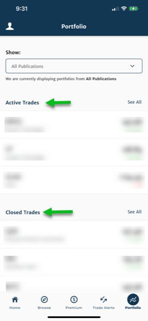 banyan hill app model portfolio active and closed trades