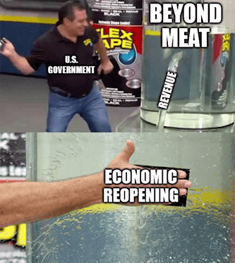 Beyond Meat economic reopening revenue rise meme