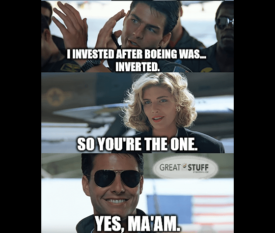 Boeing was inverted, you're the one meme big