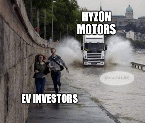 Hyzon motors chasing EV investors meme