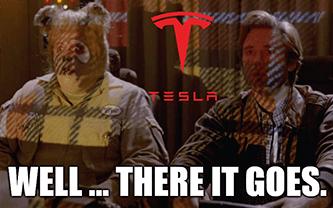 Tesla Plaid Plus there it goes meme