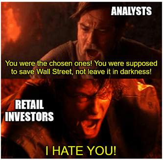 Retail investors were the chosen ones Obi Wan meme