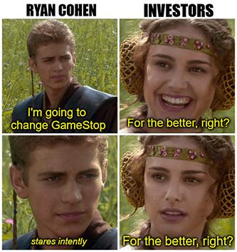 Ryan Cohen going to change GME Padme meme