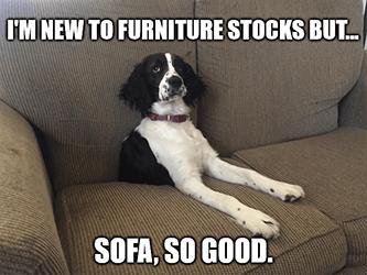New to furniture stocks sofa so good meme