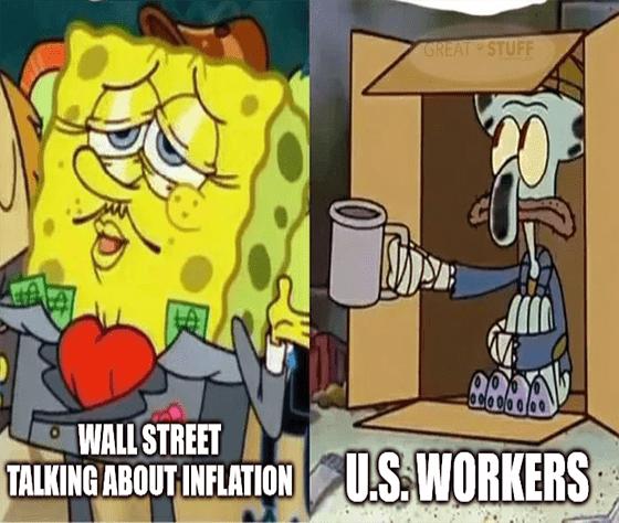 inflation SpongeBob U.S. workers Squidward meme