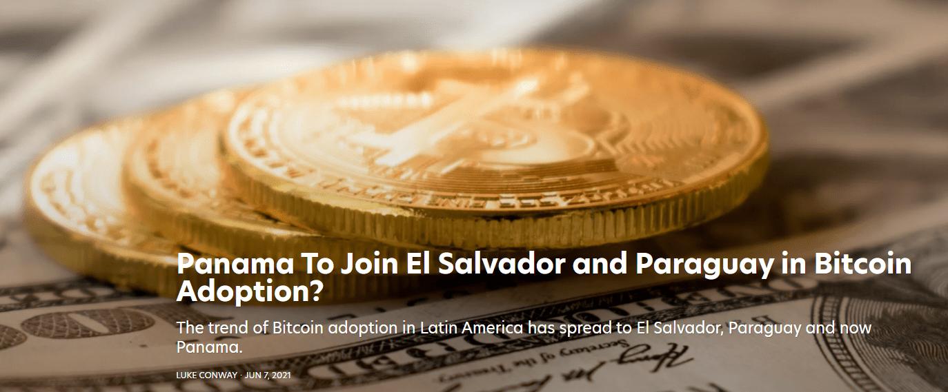 Panama to adopt bitcoin