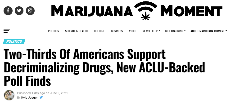 two thirds Americans call for marijuana legalization