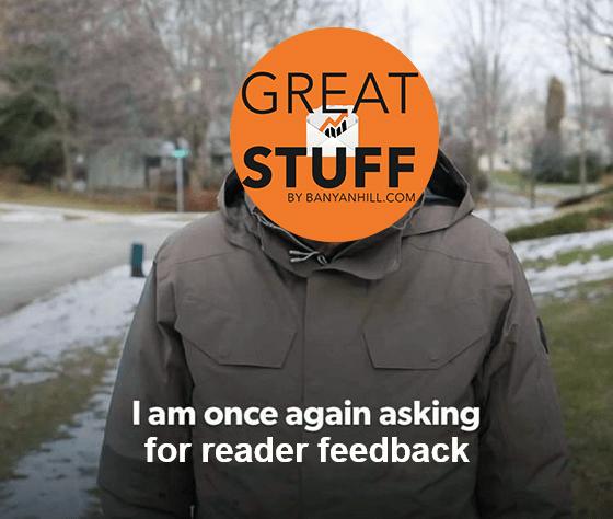 Great Stuff reader feedback meme