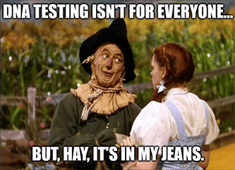 DNA testing scarecrow hay in my jeans meme