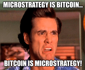 Microstrategy is bitcoin bitcoin is microstrategy meme
