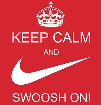 NKE earnings Keep calm and swoosh on meme