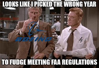 Picked wrong year to fudge FAA regulations BA meme
