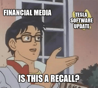 Tesla software update butterfly is this a recall meme - intellia daily