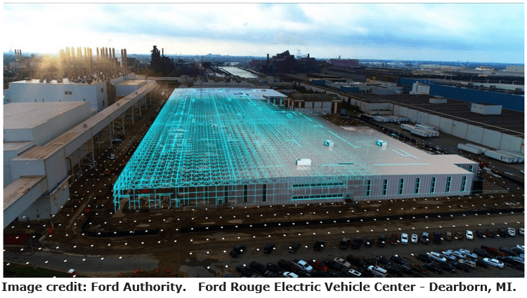 Ford rouge electric vehicle center robotics