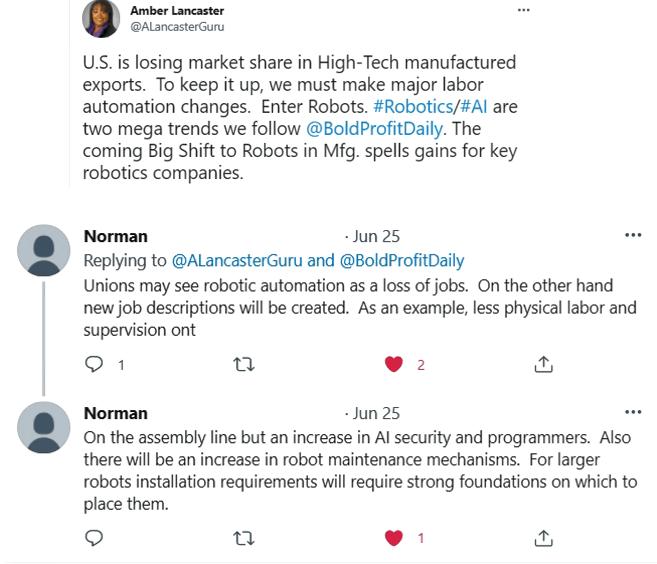 amber Lancaster robotics twitter