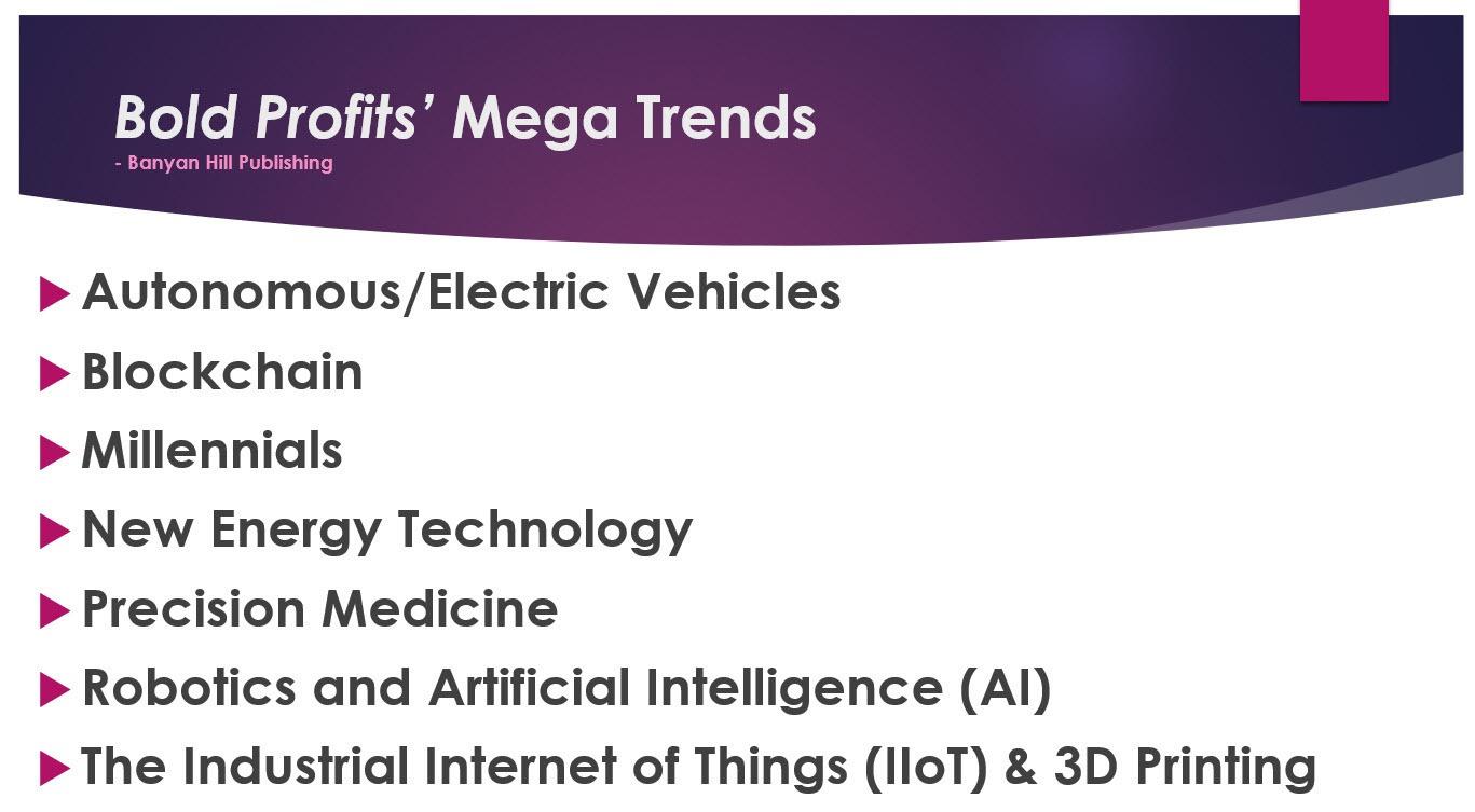 Mega Trends List