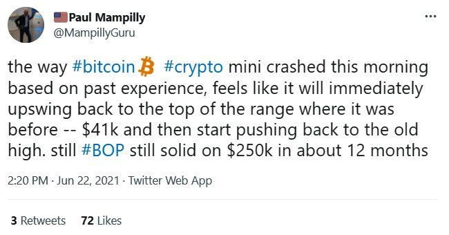 Paul's Tweet