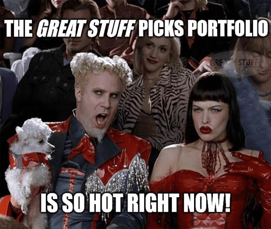 Great Stuff Picks portfolio so hot 7 triple-digit gains meme big