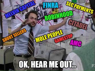 Robinhood IPO FINRA mole people shorts conspiracy meme - july jobs gs
