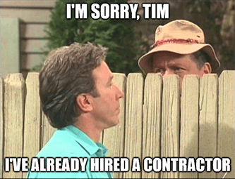 I'm sorry Tim I already hired a contractor HD/LOW meme - wall street flatlines edition