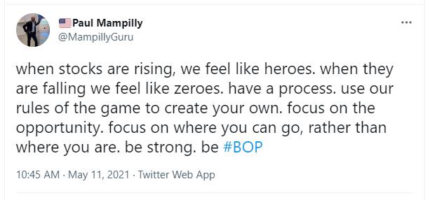 stocks are rising hero paul mampilly tweet