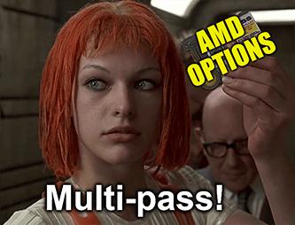 AMD options debit spread multi-pass meme