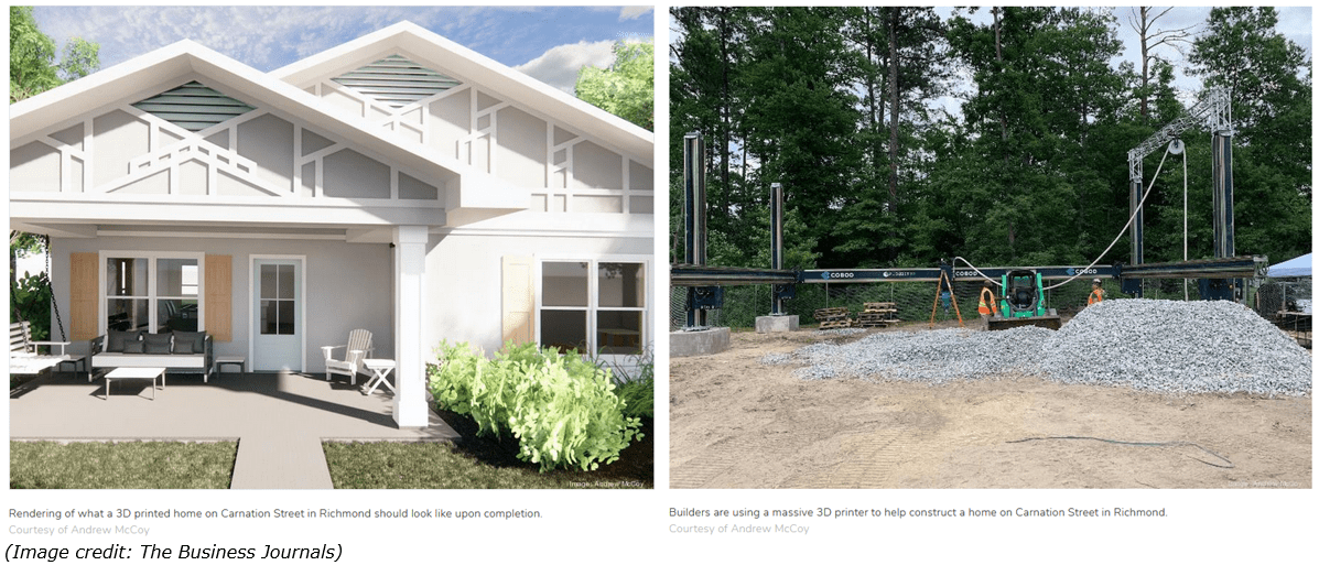 the business journal of 3D printed houses