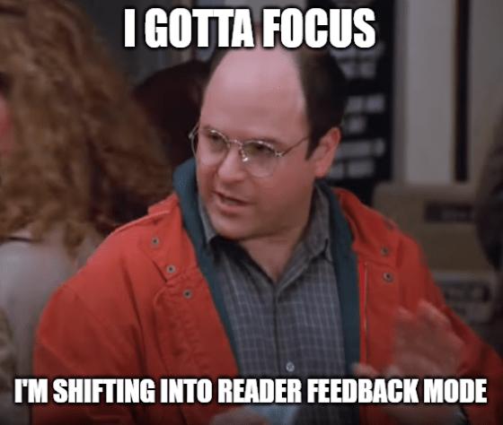I gotta focus shifting into reader feedback meme big - amd options