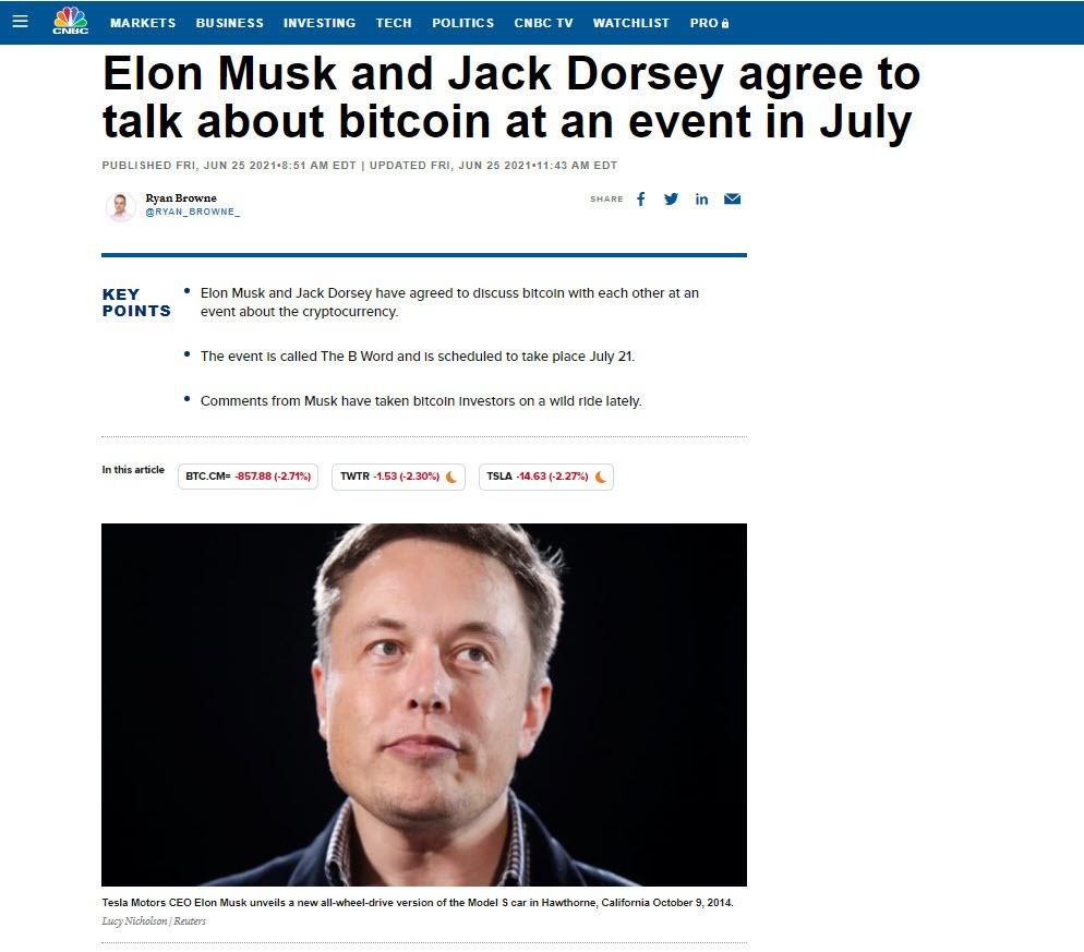 musk and dorsey headlines