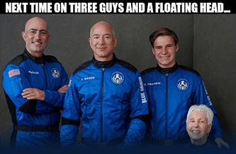 Blue Origin Bezos floating head meme