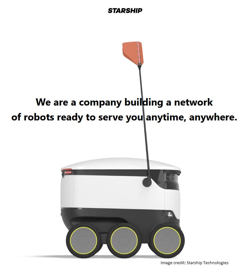 autonomous delivery bots starship