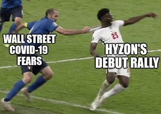 COVID fears vs Hyzon debut Euro final meme