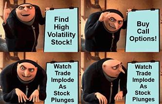 Gru options high volatility stock plunge plan meme
