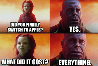 switch to Apple what did it cost everything earnings meme - amd july great stuff edition