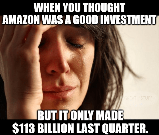 Thought Amazon good investment only made $113B meme big