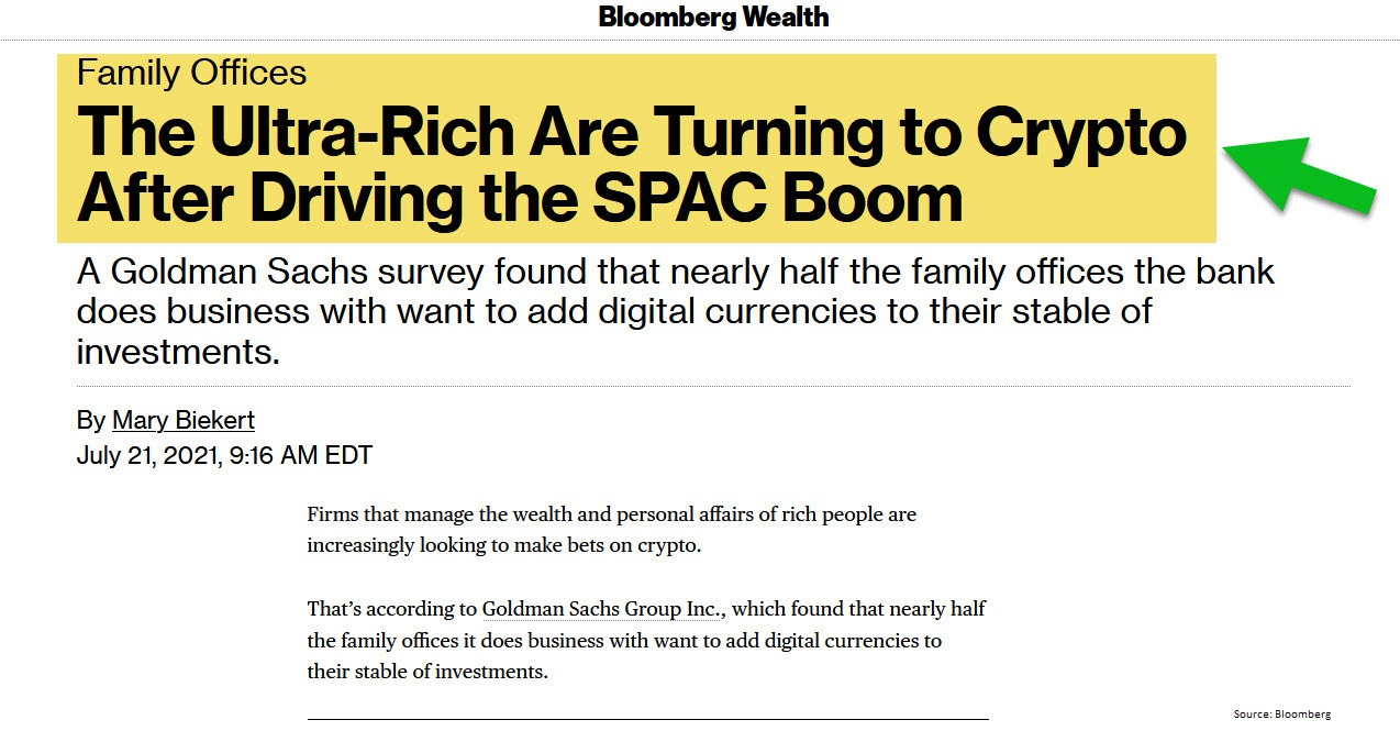Bloomberg article headline - Family Offices