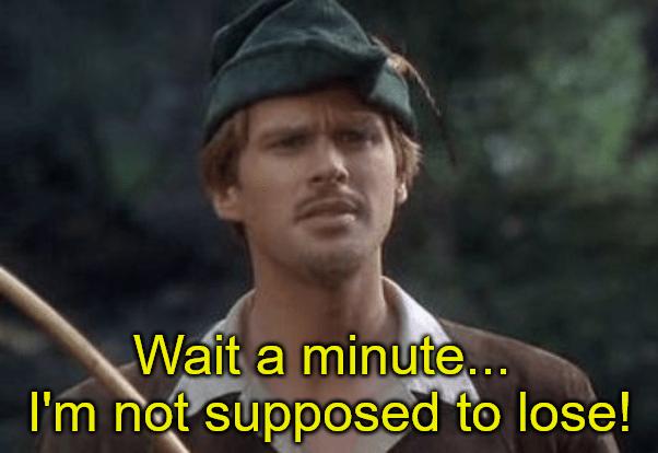 Robinhood Wait I'm not supposed to lose meme
