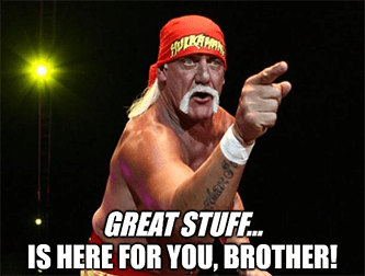 Hogan Great Stuff is here for you brother meme