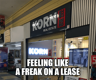 Korn real estate freak on lease Zillow meme
