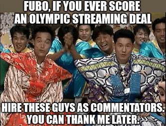 Fubo Olympic streaming Peacock meme