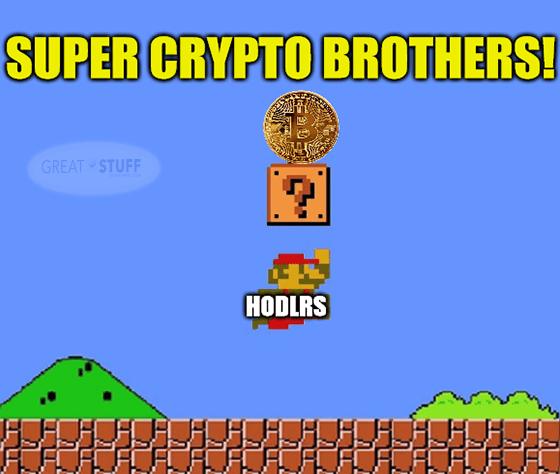 Super crypto bros. hodlers Coinbase COIN meme big