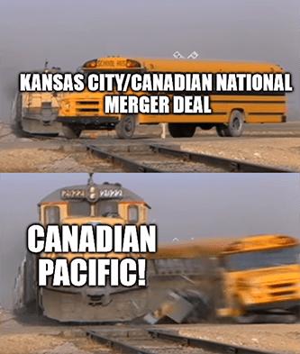 KSU CN merger deal Canadian Pacific last bid meme
