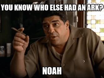 Burry Know who else had ARK Noah Sopranos meme