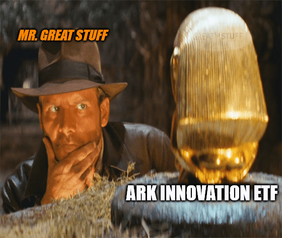 Raiders Lost ARK Innovation ETF Burry short meme big