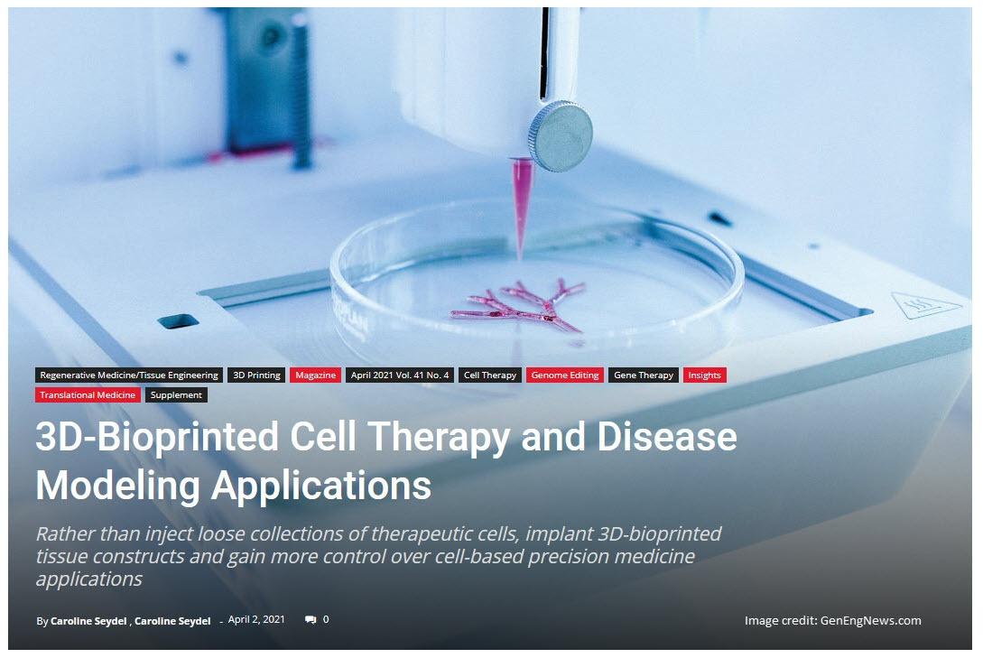 Bioprinting article