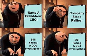 Lordstown Name new CEO DOJ investigation Gru meme