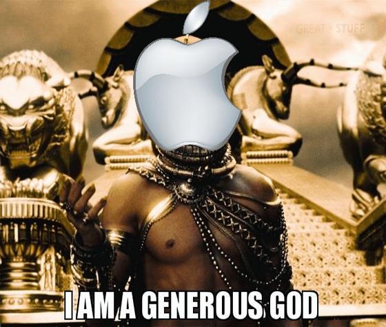 Apple I am a generous God app store devs meme big
