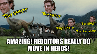 Support.com short squeeze Redditors move in herds meme