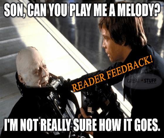 Vader Piano Man play me melody Feedback meme big