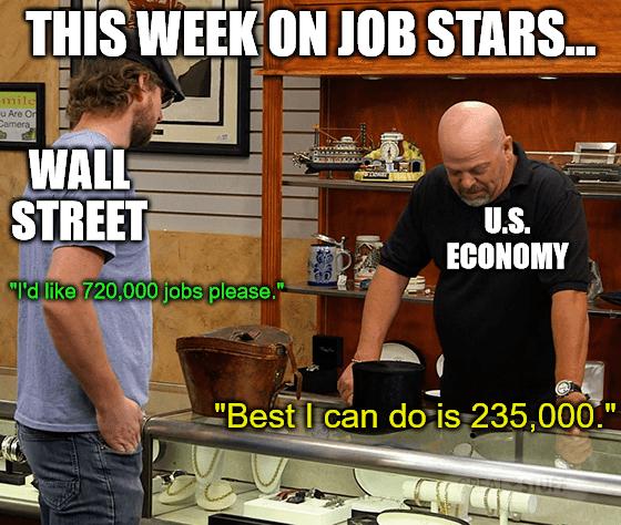Job Data Stars Best I can do is 235,000 meme big